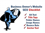 Internet Marketing Website SEO Checklist for Business Owners
