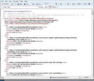 Internet Marketing Sitemap.XML Example