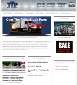 Total Truck Parts Mobile Responsive Web Site